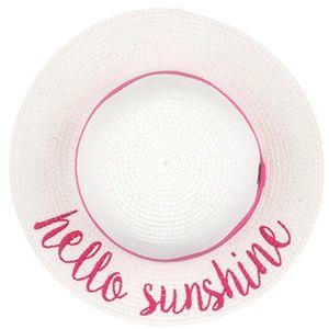 C.C Children Embroidered Lettering Straw Sun Hat